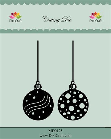 Dixi Craft - Die - MD0125 - Christmas baubles